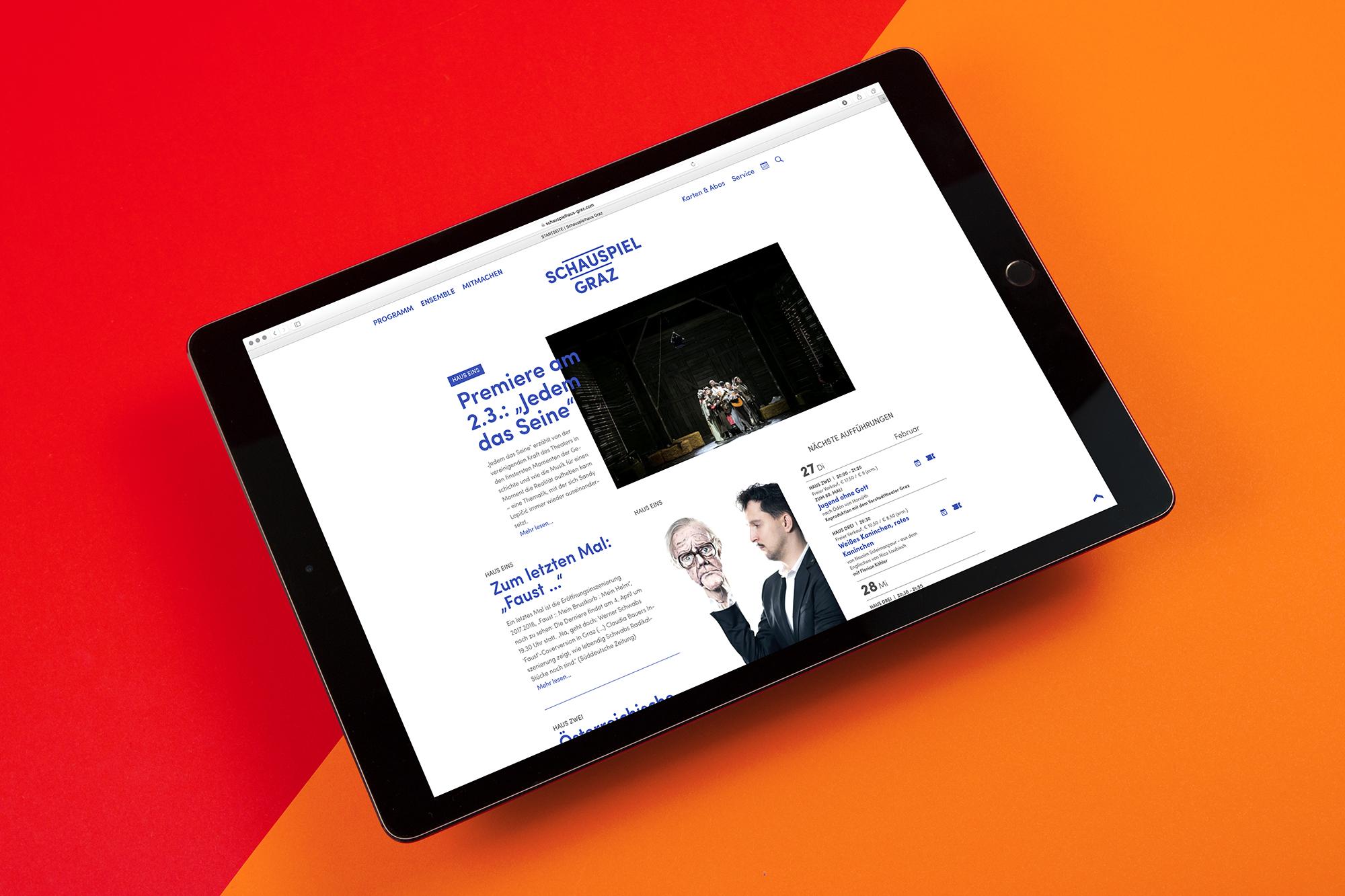 Schauspiel Graz Website